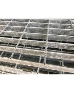 25mm x 3mm 41/100 Mild Steel Open Grill Steel Flooring Galvanised Open Steel Flooring