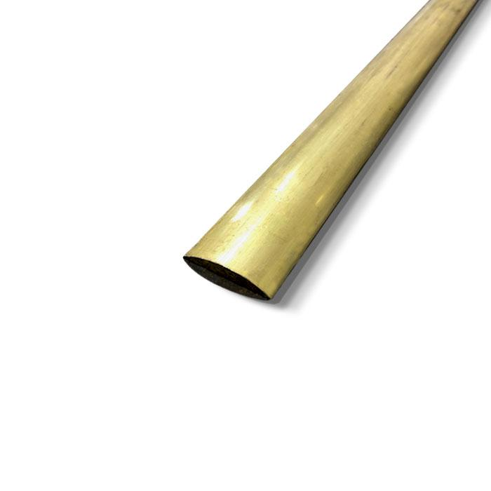 Brass Half Round Moulding 9.52mm x 3.2mm (3/8