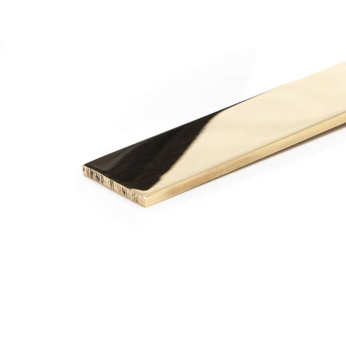 Bright Polished Brass Flat 76.2mm x 6.35mm (3