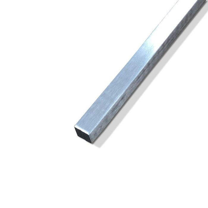 Brushed Aluminium Square Bar 12.7mm (1/2