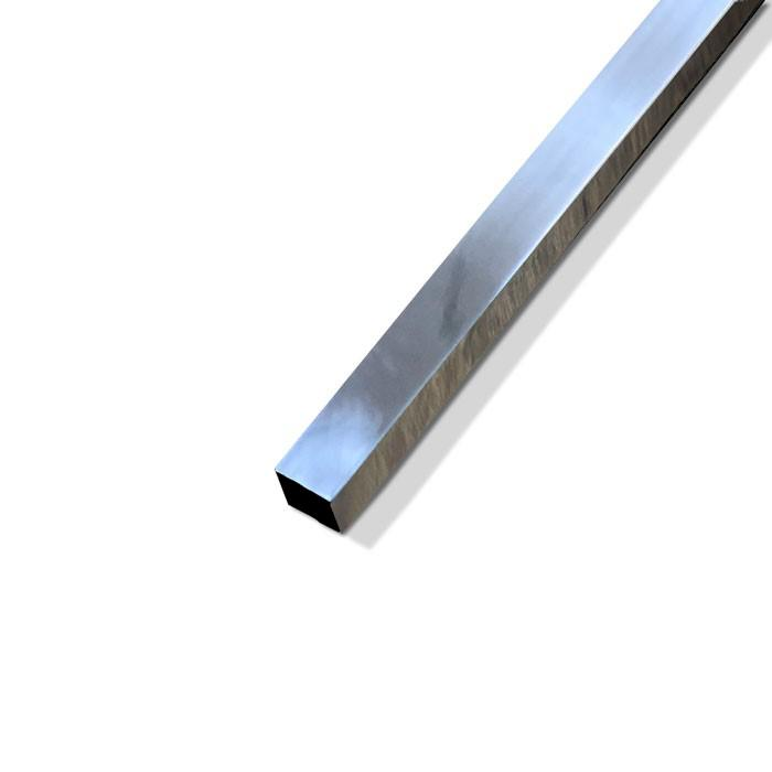 Bright Aluminium Square Bar 6.35mm (1/4