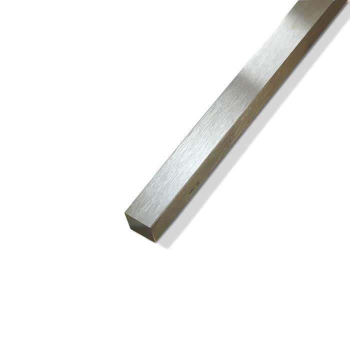 Brushed Polished Brass Square Bar 6.35mm (1/4