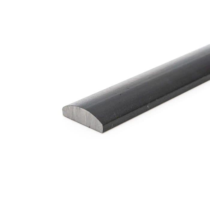 40mm x 12mm Convex Flat Mild Steel Half Round Moulding