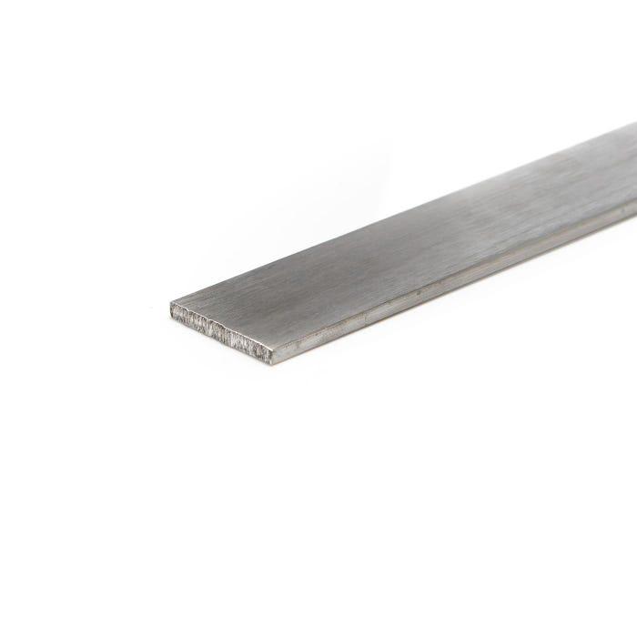 Brushed Aluminium Flat 25.4mm X 12.7mm (1