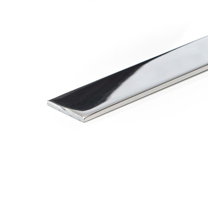 Bright Polished Aluminium Flat 38.1mm X 12.7mm (1.1/2