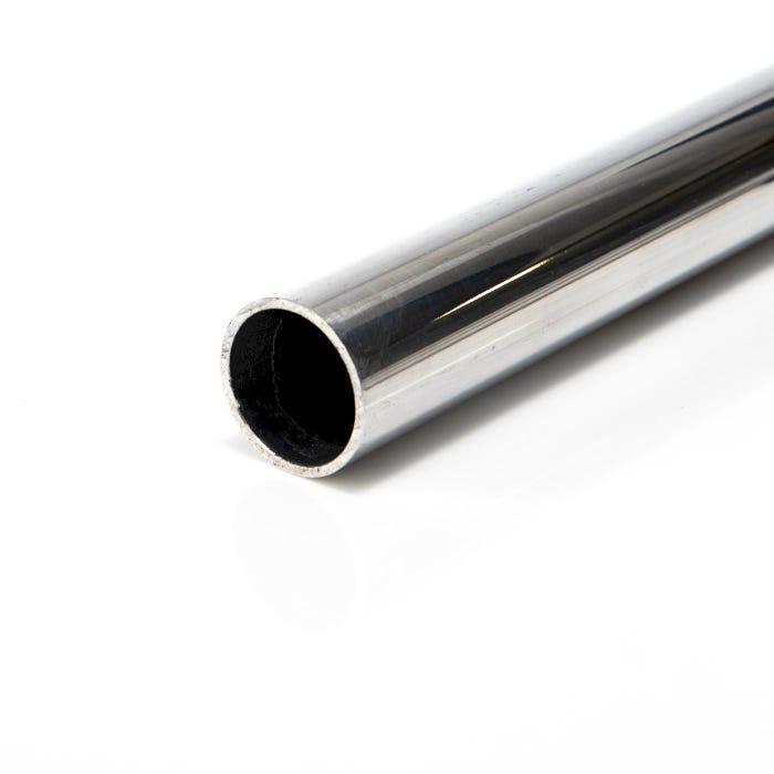 Bright Polished Aluminium Tube 22.2mm X 1.6mm (7/8