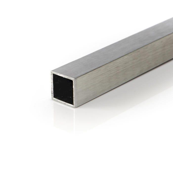 Brushed Aluminium Box Section 19.05mmX19.05mmX1.6mm (3/4