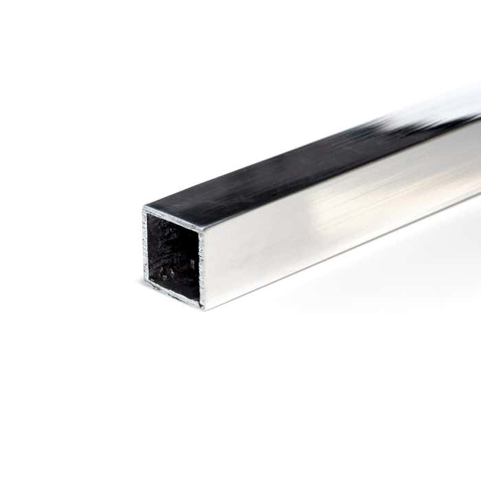 Bright Polished Aluminium Box Section 38.1mmX38.1mmX1.6mm(1.1/2