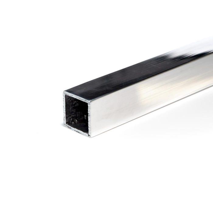 Bright Polished Aluminium Box Section 25.4mmX25.4mmX3.2mm (1