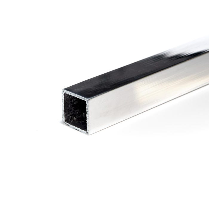 Bright Polished Aluminium Box Section 38.1mmX38.1mmX3.2mm(1.1/2