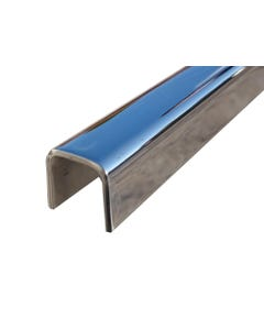 Bright Polished Stainless Steel Channel25mm x 25mm x 3mm