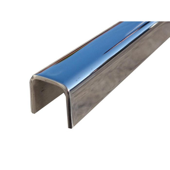 Bright Polished Stainless Steel Channel 40mm x 40mm x 3mm