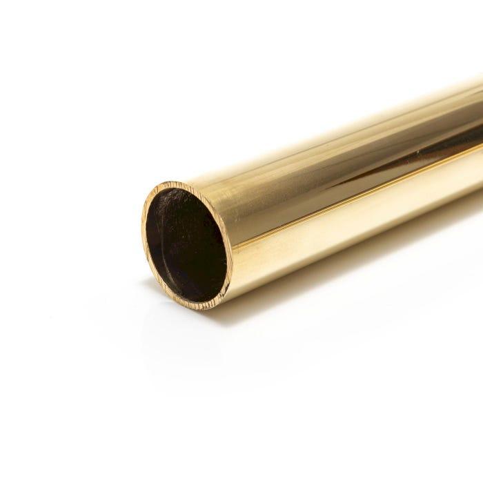 Bright Polished Brass Tube 38.1mm X 1.6mm (1.1/2