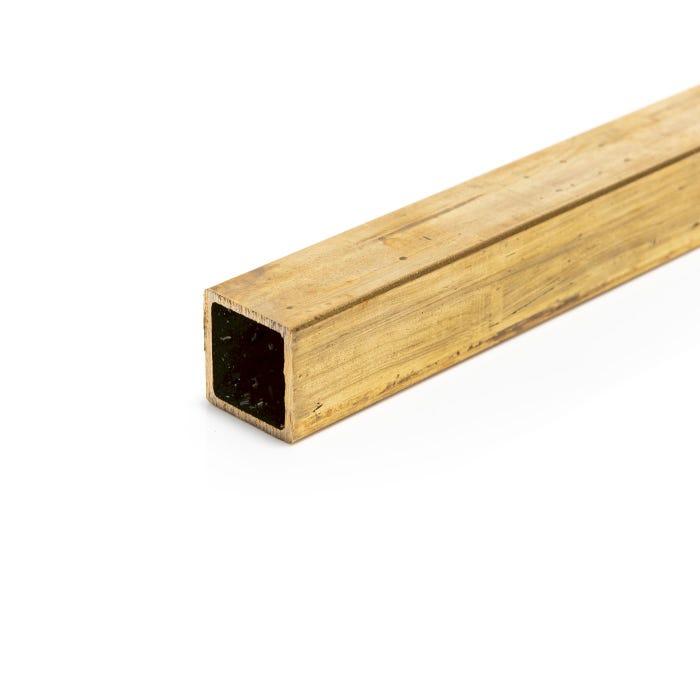 Brass Box Section 12.7mmX12.7mmX1.6mm (1/2