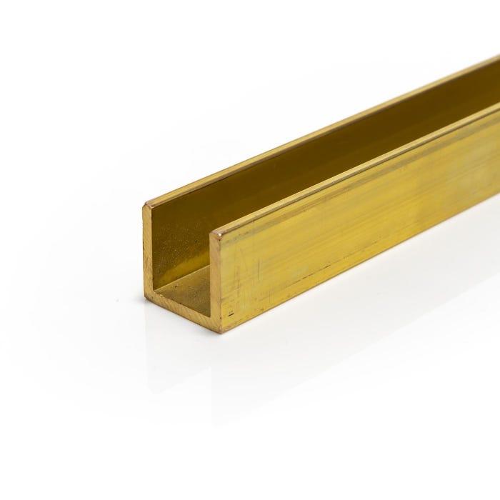 Brass Channel 19.05mmX19.05mmX3.2mm (3/4