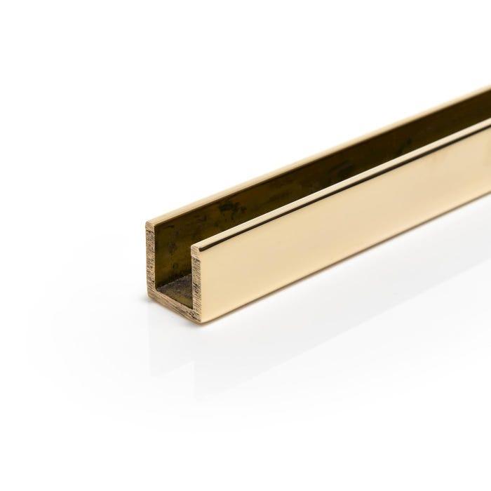 Bright Polished Brass Channel 25.4mm X 25.4mm X 3.2mm (1