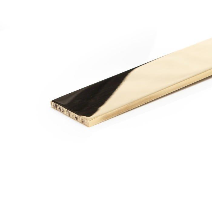 Bright Polished Brass Flat 25.4mm x 6.35mm (1