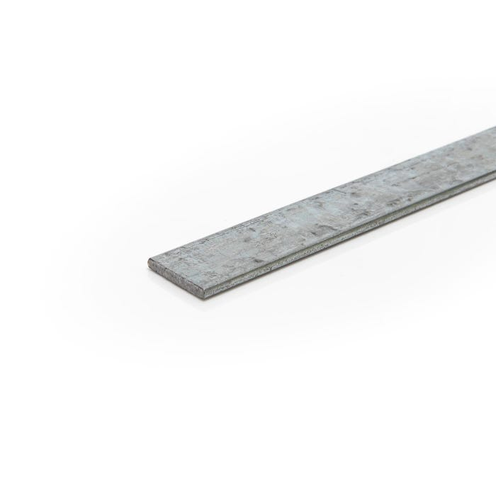 100mm x 6mm Mild Steel Galvanised Flat