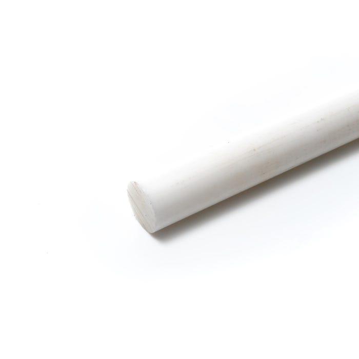 Acetal Round Rod 25mm Diameter Natural