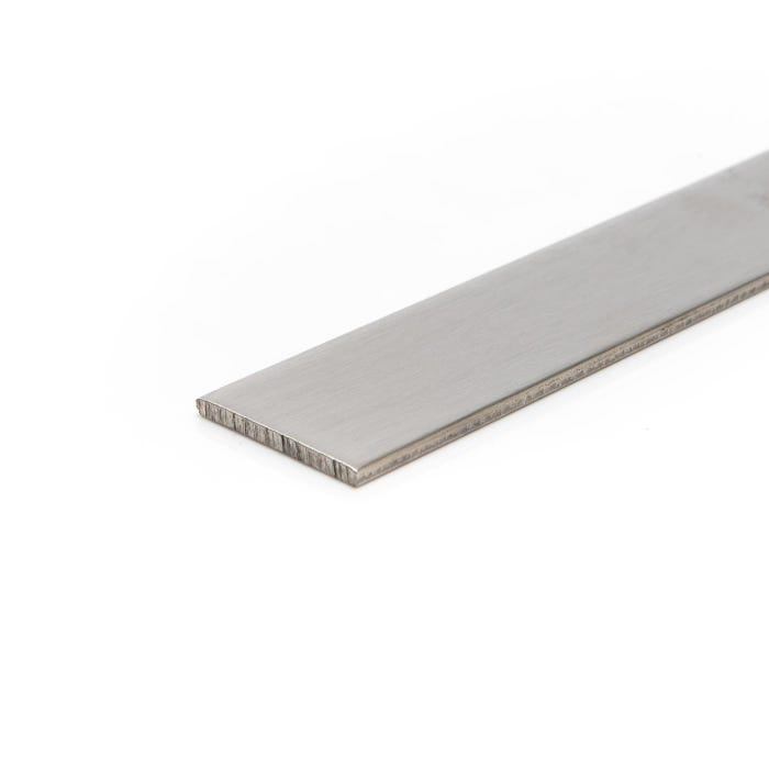 Brushed Polished Stainless Steel Flat 25mm x 3mm