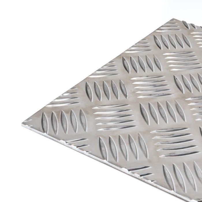 Aluminium 5 Bar Tread Plate 3mm thick