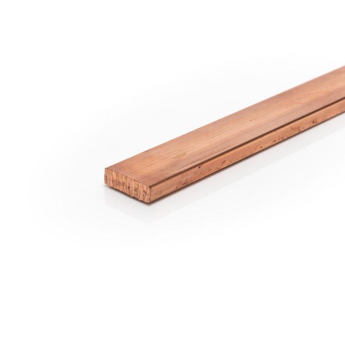 Copper Flat Bar C101 38.1mm X 6.35mm (1 1/2