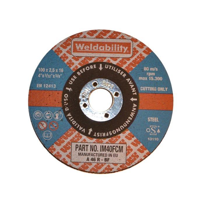 Cutting Discs FLAT CUTTING DISC(100X2.5X16MM)
