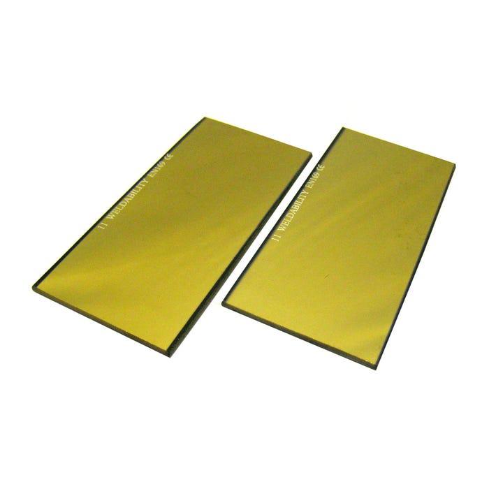 Filter Lenses 4 1/4 X 2 GOLD COATED LENS SH11