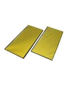 Filter Lenses 4 1/4 X 3 1/4 GOLD COATED LENS SH 9