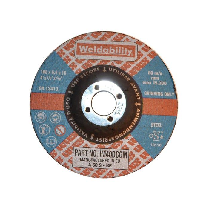 Grinding Discs DPC GRINDING DISC (100X6.4X16MM)