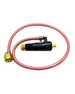 TIG Adaptors 35-95 TIG ADAPTOR c/w 90 DEG ELBOW