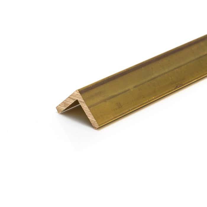 Brass Angle 9.5mmX9.5mmX1.6mm (3/8