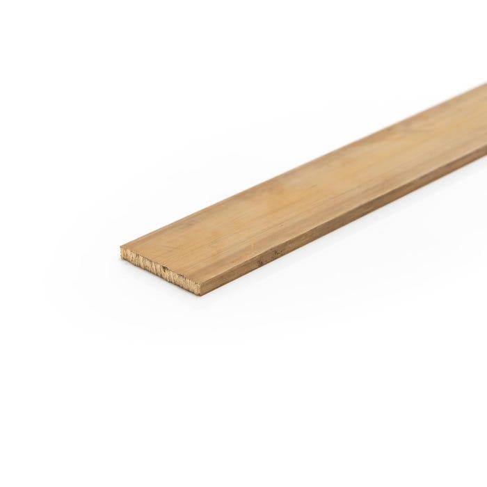 Brass Flat Bar 63.5mm X 25.4mm (2 1/2