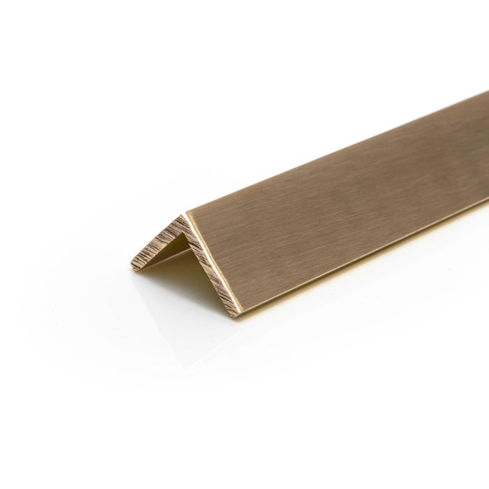 Brushed Polished Brass Angle 12.7mmX12.7mmX3.2mm (1/2
