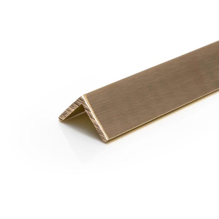 Brushed Polished Brass Angle 25.4mmX25.4mmX3.2mm (1
