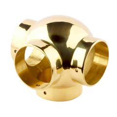 51mm Brass Ball Fittings Brass Side Outlet Tee 51mm