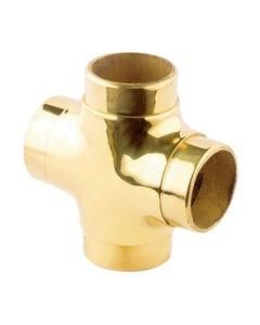 38mm Brass Flush Fittings Flush Cross