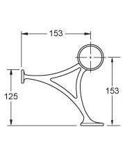 51mm Brass Hand & Foot Rail Brackets Combination Mount