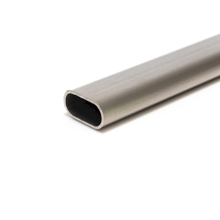 Stainless Steel Oval Tube Flat Sided 40mm x 20mm