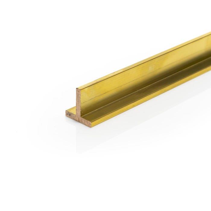 Brass T Section 12.7mmX12.7mmX3.2mm (1/2