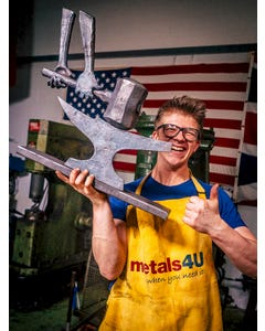 Metals4u Blacksmith/Welding Apron Mild Steel Blacksmith Supplies