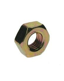 Zinc & Yellow Plated Nylon Nuts M16 100Pack