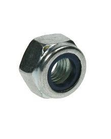 Bright Zinc Plated Nylon Insert Nuts M16 50Pack