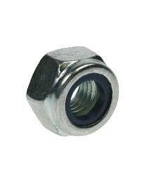 Bright Zinc Plated Nylon Insert Nuts M10 200Pack