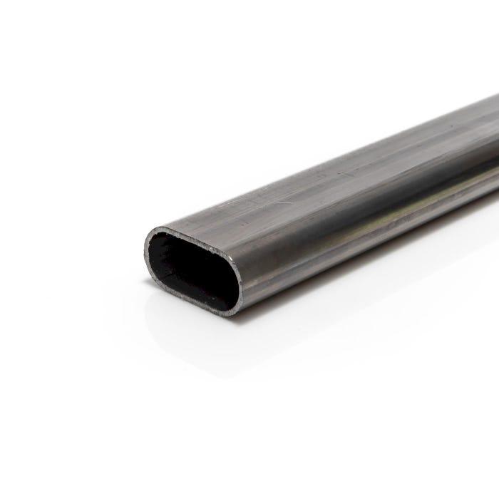 31.75mm x 15.8mm x 1.5mm Mild Steel Tube Oval Tube