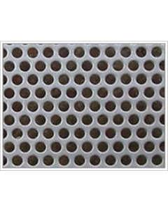 6mm hole 8.5mm pitch 1mm thick Mild Steel Sheet Perforated