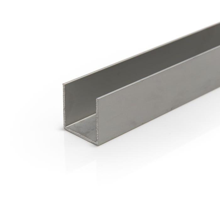 Anodised Aluminium Channel 25.4mmX25.4mmX3.2mm (1