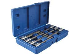 Extra Long 3/8in Square Drive Hex Bit Sockets 7Piece