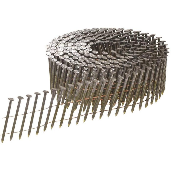 Bright Ring Shank Coil Nails 2.8 x 50mm Pack of  9000