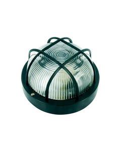 Black Plastic Bulkhead Light - No Bulb